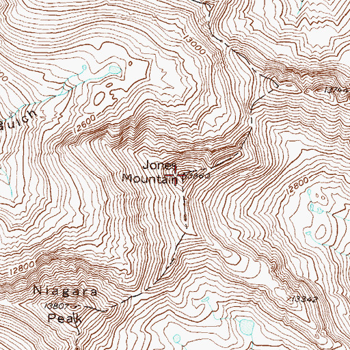 Topographic Map of Jones Mountain, CO