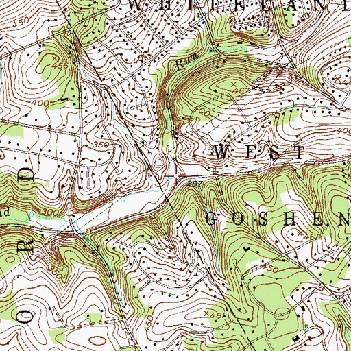 Topographic Map of John Smedley Run, PA