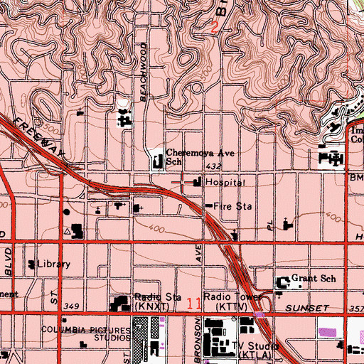 Topographic Map of Fifield Convalescent Center, CA