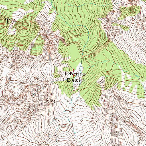 Topographic Map of Blaine Basin, CO