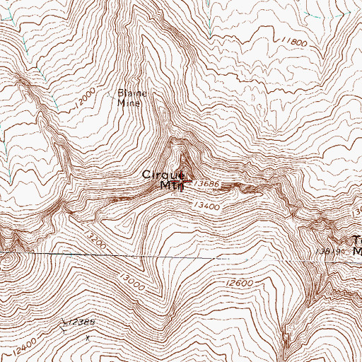Topographic Map of Cirque Mountain, CO