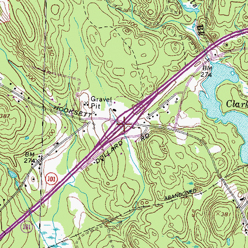Topographic Map of Interchange 2, NH