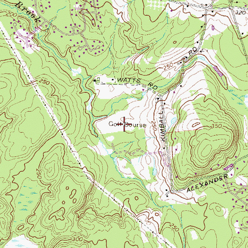 Topographic Map of Londonderry Country Club, NH