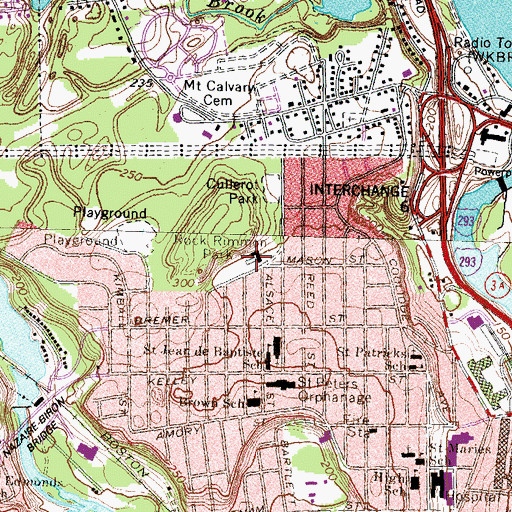 Topographic Map of Dupont Pool, NH