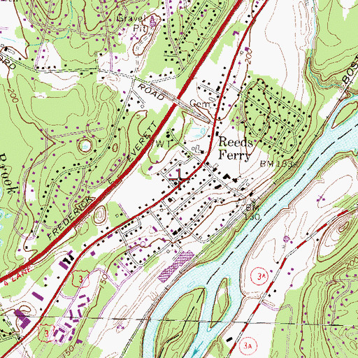Topographic Map of Faith Episcopal Church, NH