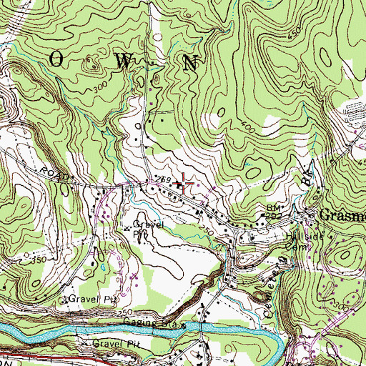 Topographic Map of Grasmere Schoolhouse Number 9 (historical), NH
