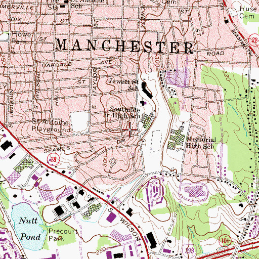 Topographic Map of Greater Manchester Mental Health Center, NH