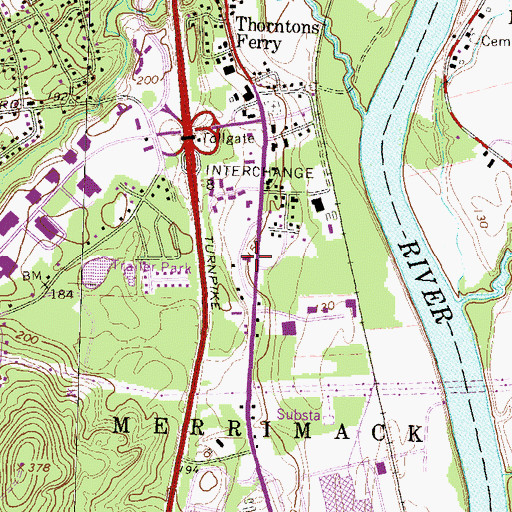 Topographic Map of Health Stop Center, NH