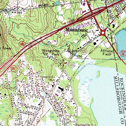 Topographic Map of Lake Park, NH