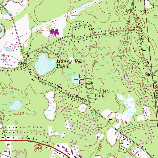 Topographic Map of Little Honey Pot Pond, NH