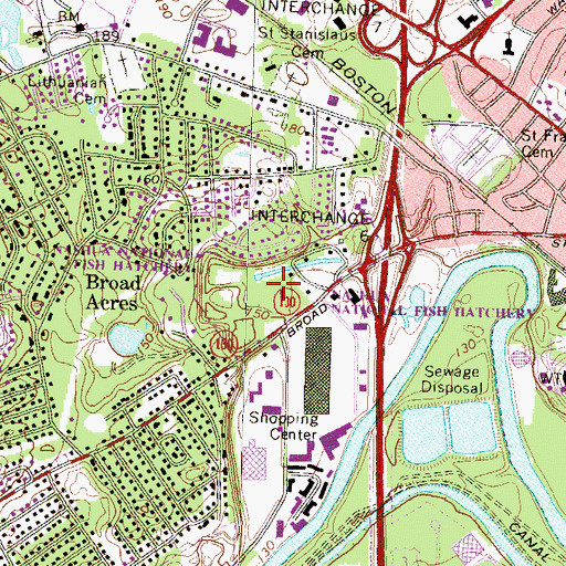 Topographic Map of Nashua National Fish Hatchery, NH