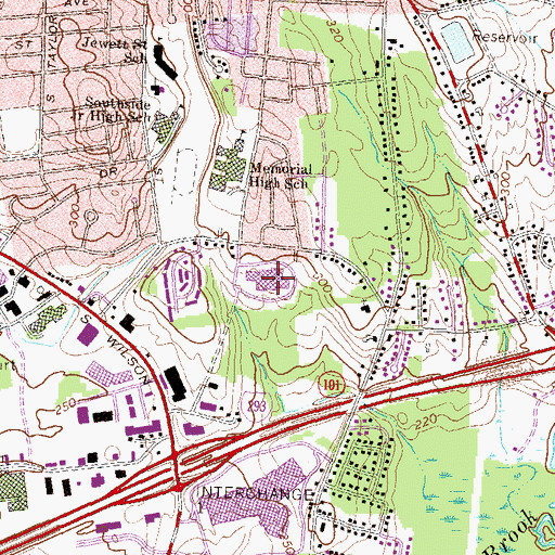 Topographic Map of Manchester School of Technology, NH