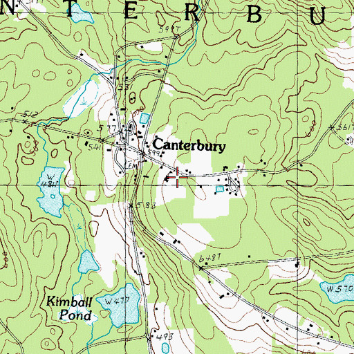 Topographic Map of Canterbury Elementary School, NH