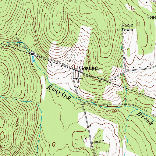 Topographic Map of Goshen Church, VT