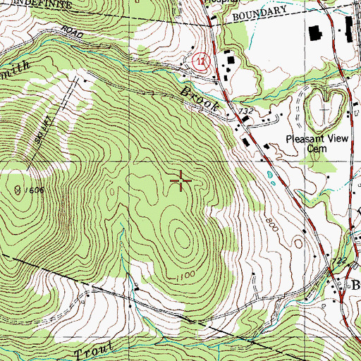 Topographic Map of Randolph Municipal Forest, VT