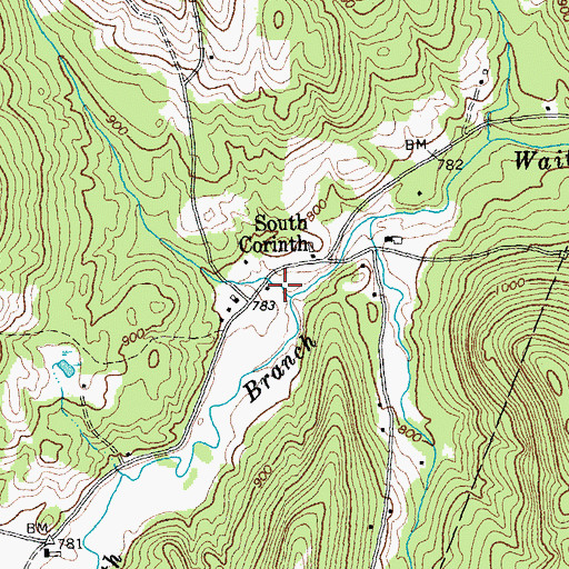 Topographic Map of South Corinth School (historical), VT