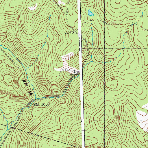 Topographic Map of Taylor Valley Cemetery, VT