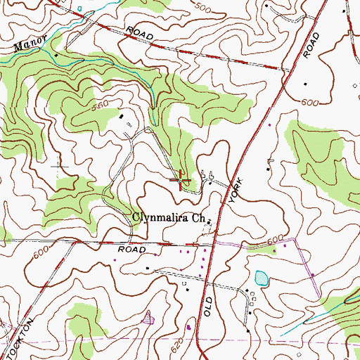 Topographic Map of District 10, MD