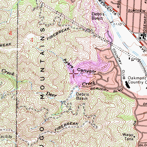 Topographic Map of Glendale Division (historical), CA