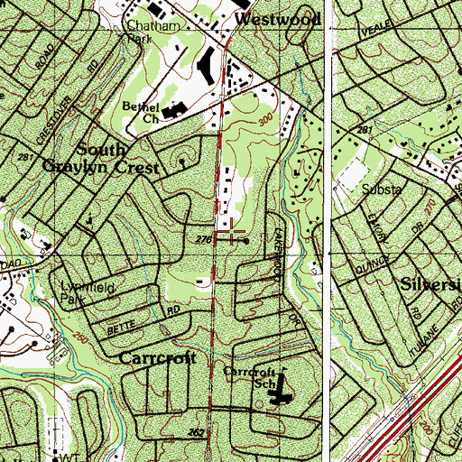 Topographic Map of Brandywine Division, DE
