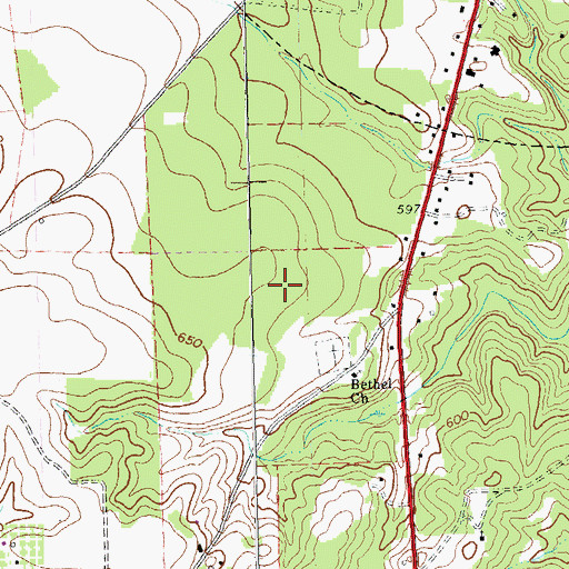Topographic Map of Butler Division, GA