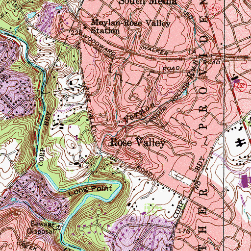 Topographic Map of Minquas Run, PA