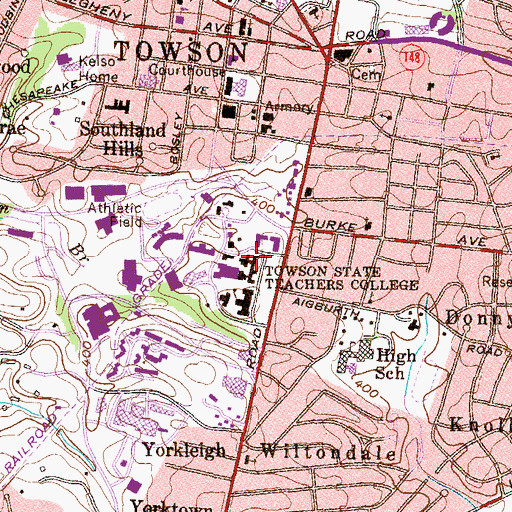 Topographic Map of Newell Hall, MD