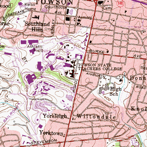 Topographic Map of Stephens Hall, MD