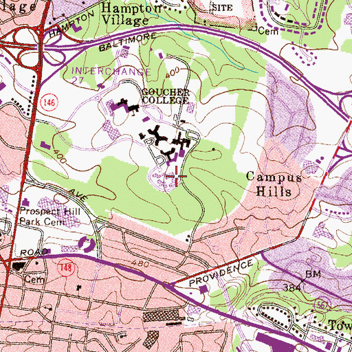 Topographic Map of Stimson Hall, MD