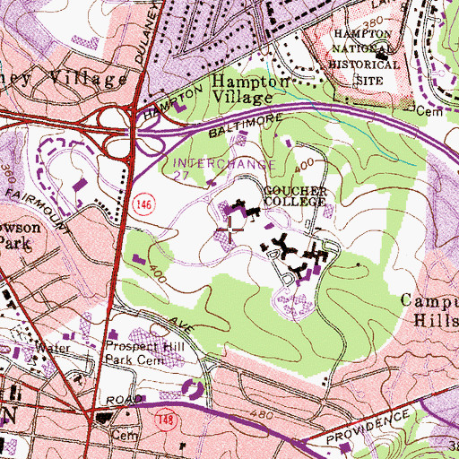 Topographic Map of Dorsey College Center, MD