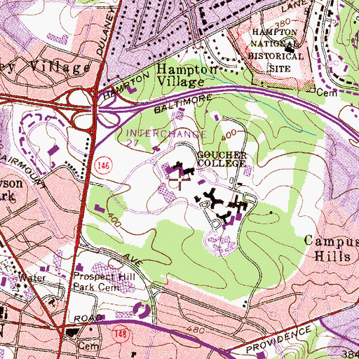 Topographic Map of Meyerhoff Arts Center, MD