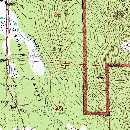 Topographic Map of Cabin Rock, CO
