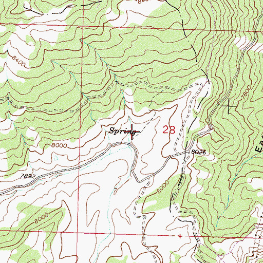 Topographic Map of Mud Spring, CO