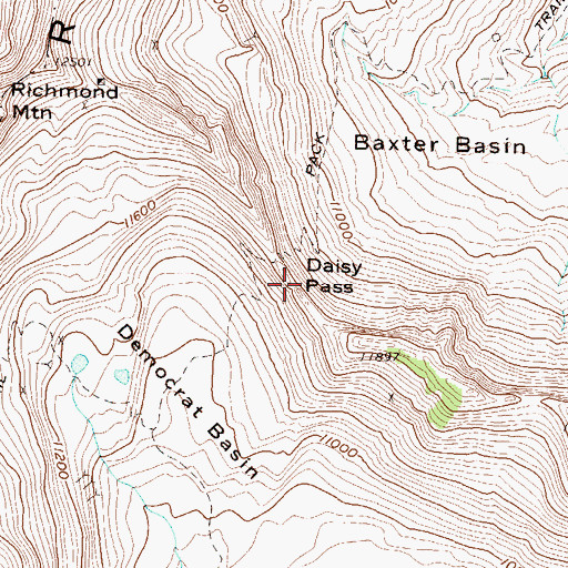 Topographic Map of Daisy Pass, CO