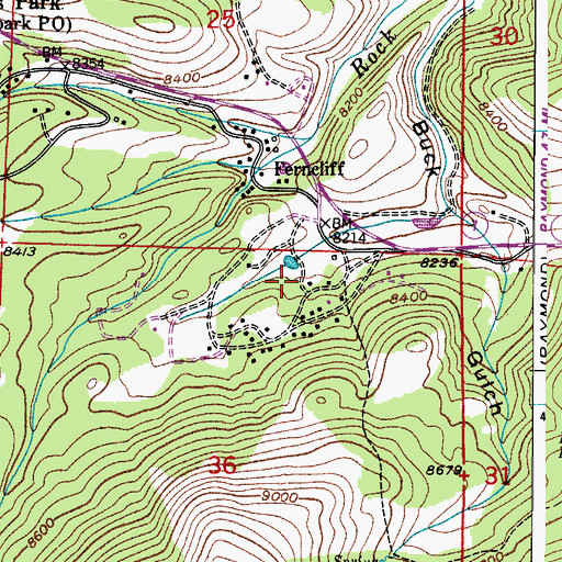 Topographic Map of Arrowood, CO
