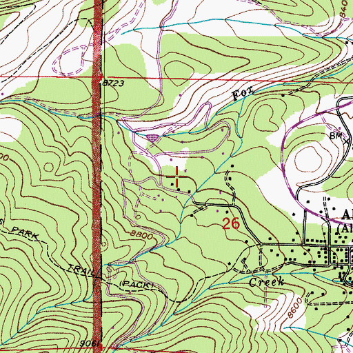 Topographic Map of Triple Creek Ranch, CO