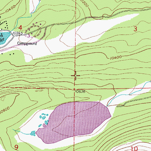 Topographic Map of Little Raven Trail, CO