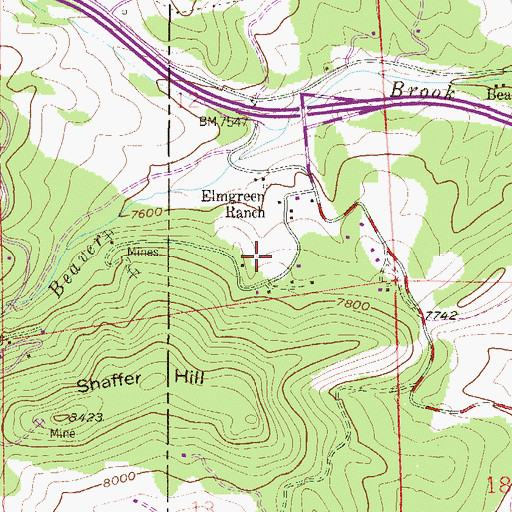 Topographic Map of Koser Spring, CO