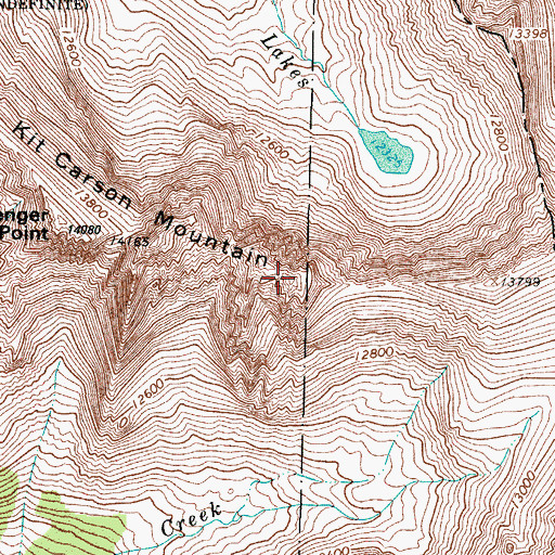 Topographic Map of Columbia Point, CO