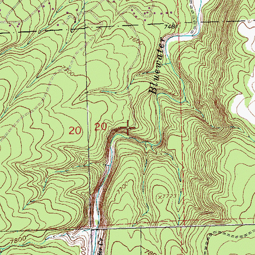 Topographic Map of Bluewater Parking Area, NM