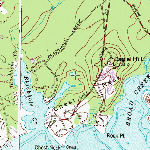 Topographic Map of Eagle Hill Bog, MD