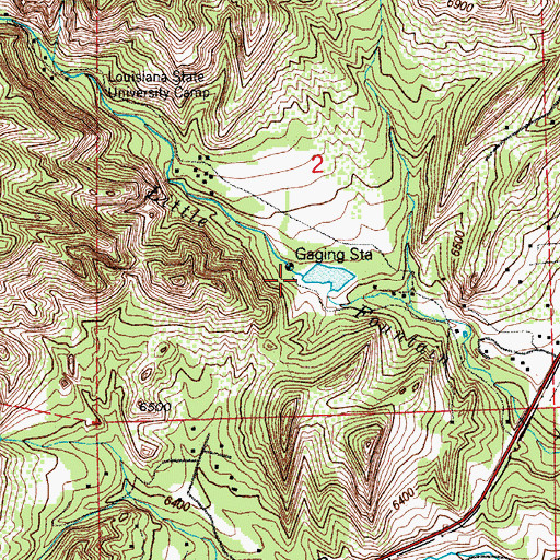 Topographic Map of Keeton Lake Dam, CO