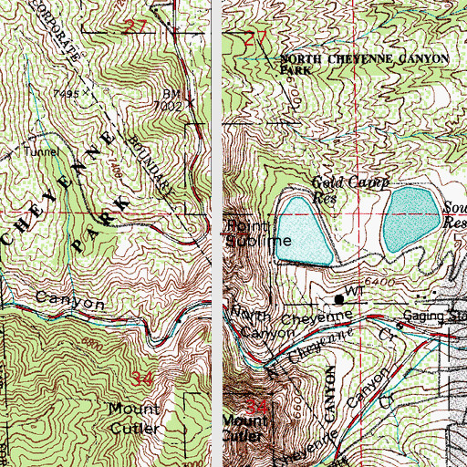 Topographic Map of Gold Camp Dam, CO