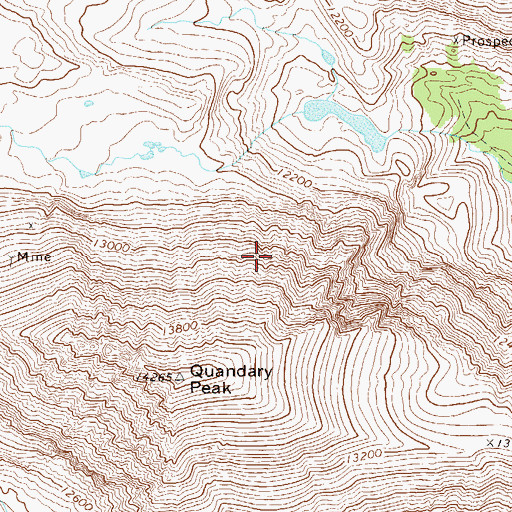 Topographic Map of Upper Blue Dam, CO