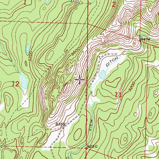 Topographic Map of Castle Number 1 Dam, CO
