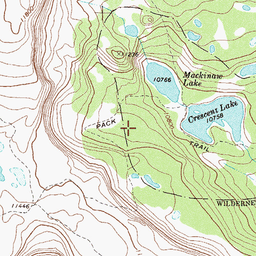 Topographic Map of Crescent Lake Number 1 Dam, CO