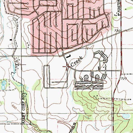 Topographic Map of Candlewood Elementary School, TX