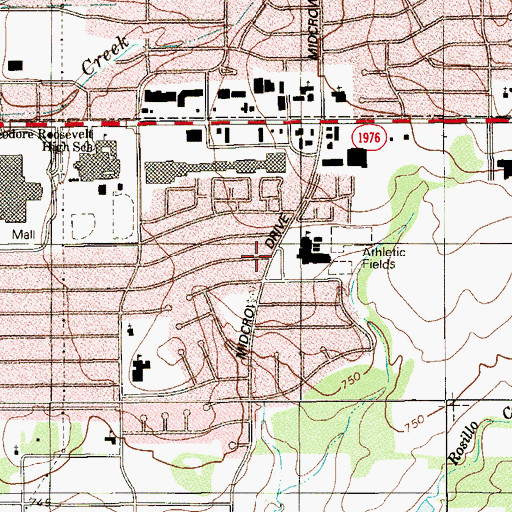 Topographic Map of White Middle School, TX