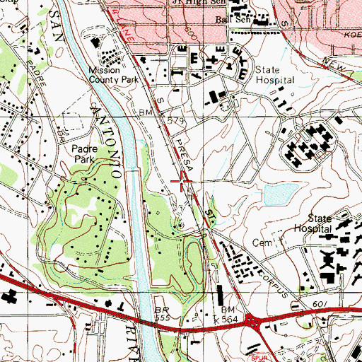Topographic Map of Siedel Learning Center, TX