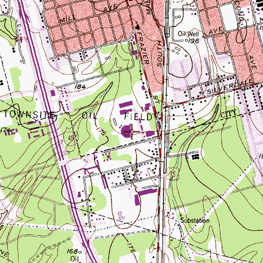 Topographic Map of Armstrong Elementary School, TX
